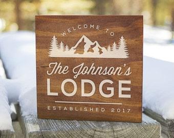 Custom Cabin Signs, Cabin Signs, Cabin Decor, Cabin Wall Decor, Lodge Sign, Lodge Decor, Rustic Signs, Rustic Wall Decor (GP1100)