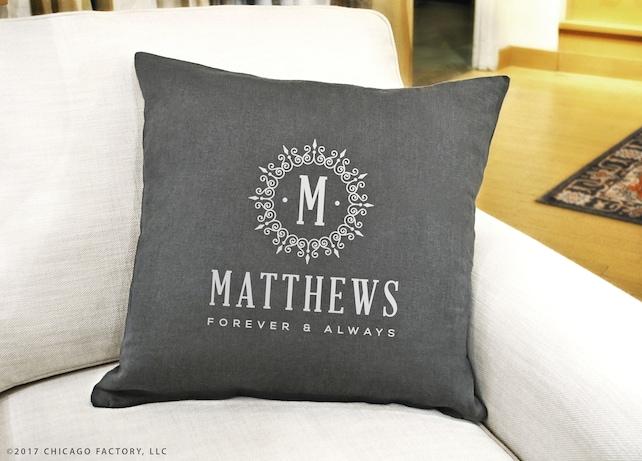 Initial Pillow Covers Custom Custom Initial Pillow Cover Monogram Decorative Pillow Etsy