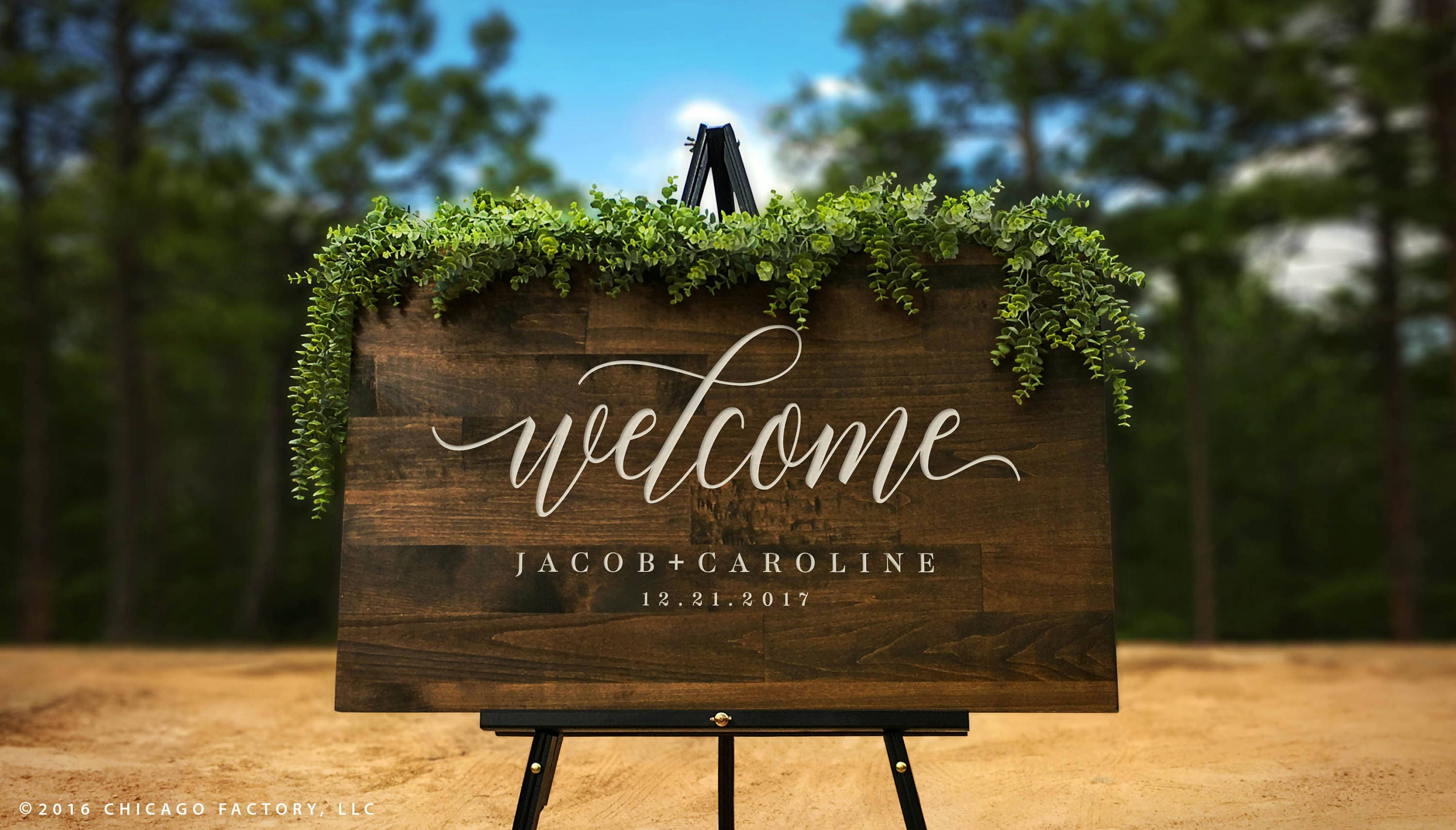Custom Welcome to Our Wedding Sign Large Rustic Wood Sign | Etsy