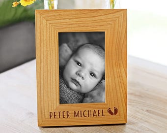 Baby Frame, Personalized Picture Frame, Baby Gift, Baby Boy Frame, Engraved Custom Frame, Mothers Day Gift, Baby Girl, Gift for Her (GF7061)