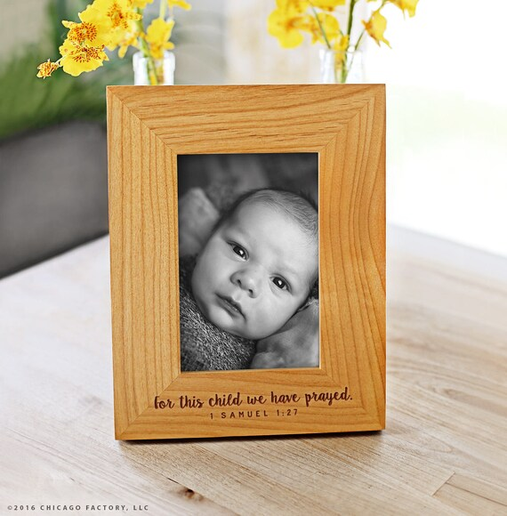 For This Child We Have Prayed Frame 1 Samuel 127 Baby Girl Etsy