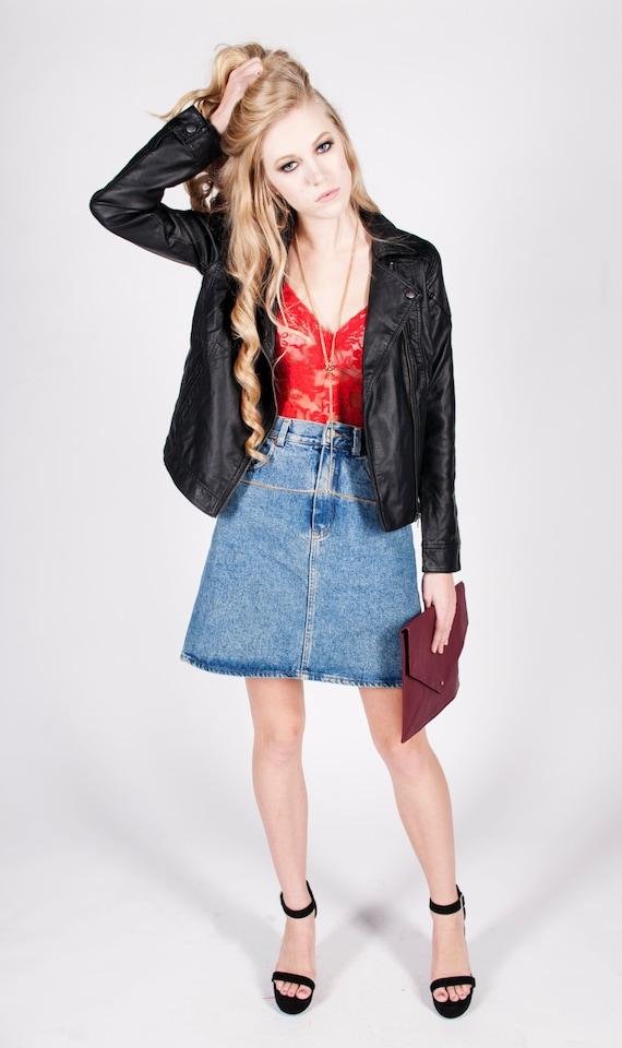 Vintage 1990s Denim Skirt