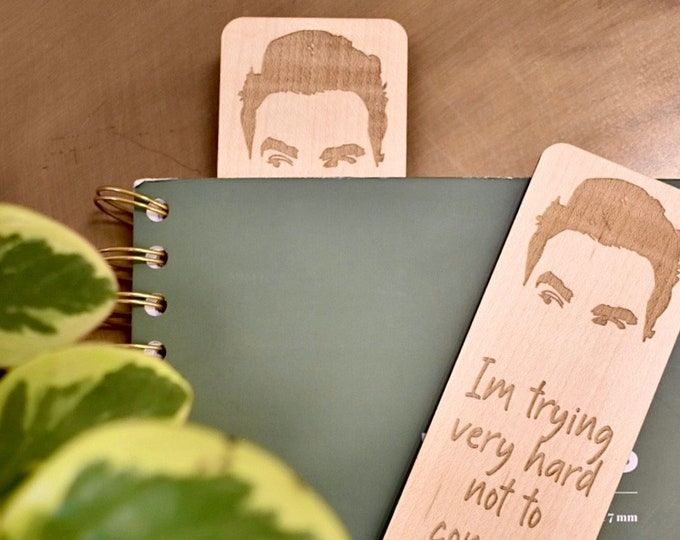 Schitt's Creek Gifts | David Rose Items | Wood Bookmark | Schitt's Creek David | Schitt's Creek Gifts | Gifts for Book Lovers | Bookmarks