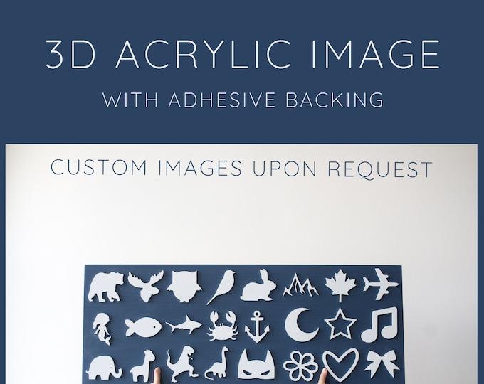 3D Acrylic Image | Laser Cut Image