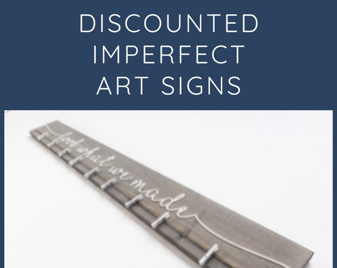 "60"" 3D Discounted Imperfect Stock Art Display Signs"