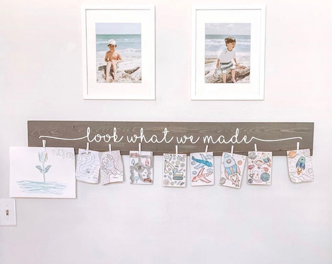 "Look What We Made Sign | 46"" Kids Art Display"