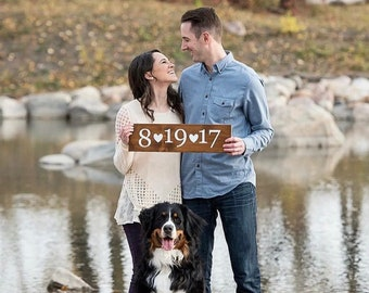 Save The Date Wedding Sign | Engagement Sign