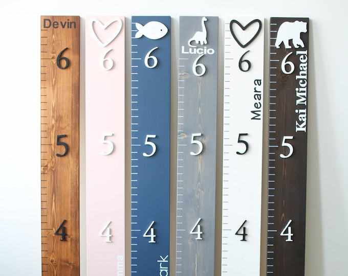 Wood Growth Chart Ruler 3D