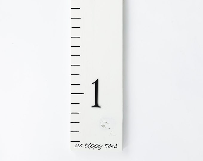 No Tippy Toes Growth Chart Ruler 3D