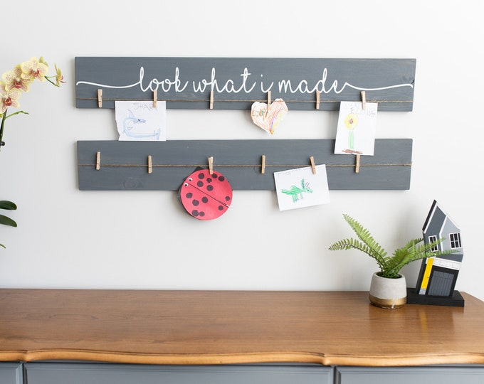 """Look What I Made Sign + Blank Sign 
