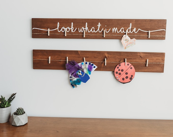 """Look What I Made Sign with Blank Sign 
