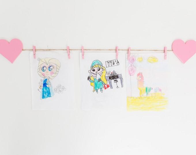 Kids Art Display Sign | Heart Images