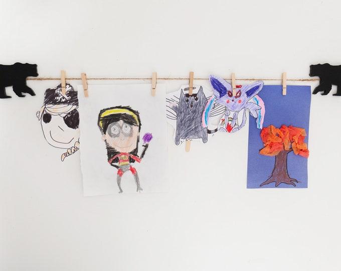 Kids Art Display Sign | Bear Images