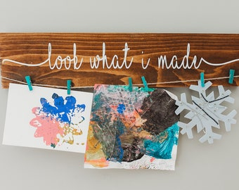 """Look What I Made Sign   24""""   Kids Art Display Sign"""