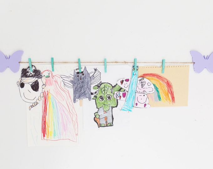 Kids Art Display Sign | Butterfly Images