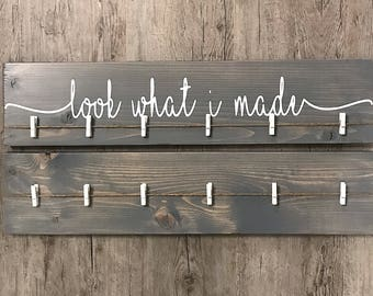 """Look What I Made Sign + Extra Blank   24""""   Kids Art Display Sign"""