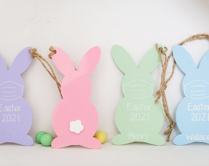Easter Bunny Basket Personalized Tags