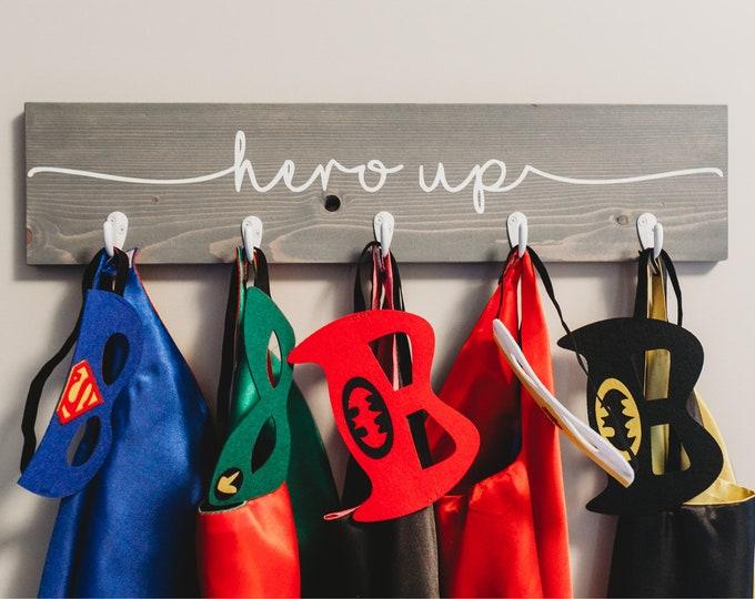 "3D Kids Dress Up Clothes Rack 24""| Super Hero Decor"