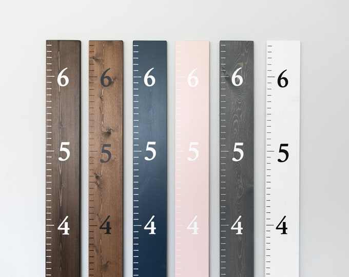 Personalized Wood Growth Chart Ruler