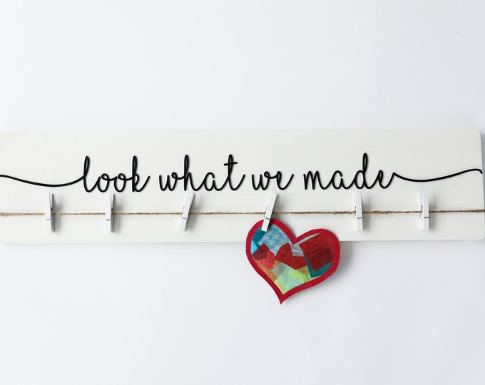 """3D Laser Cut Look What I Made Sign 