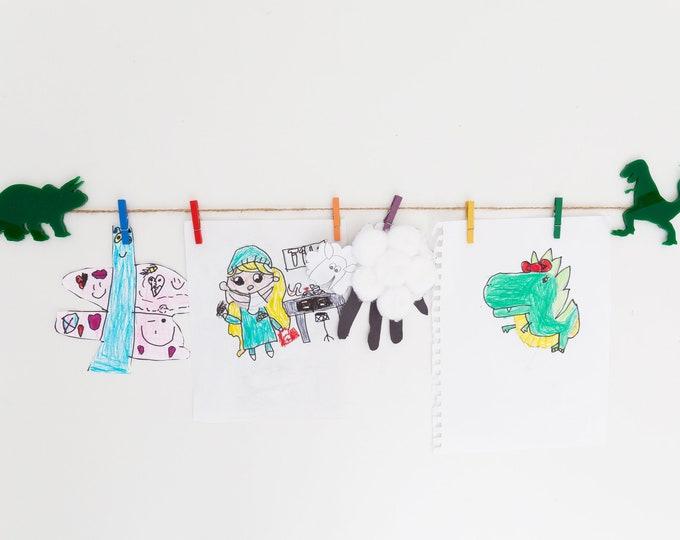 Kids Art Display Sign | Dino Images