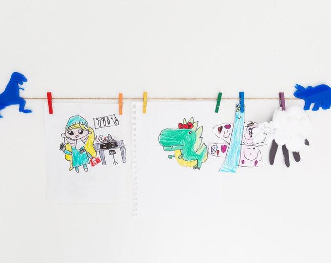 Kids Art Display Sign | Dinosaur Images