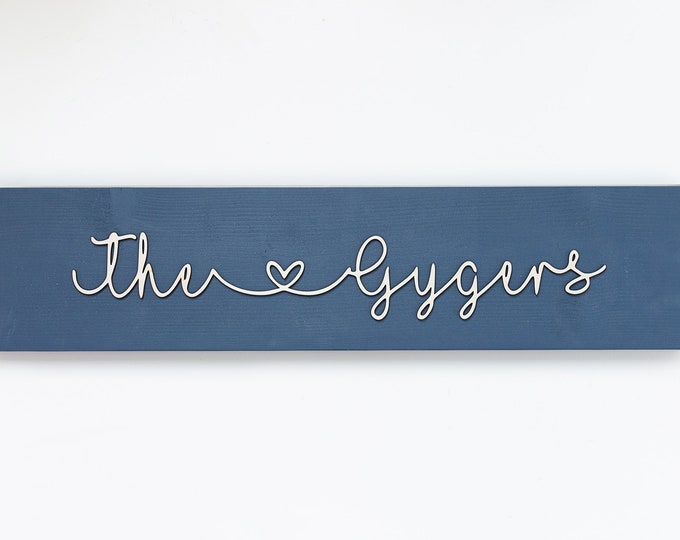"""3D Family Name Sign 24"""""""