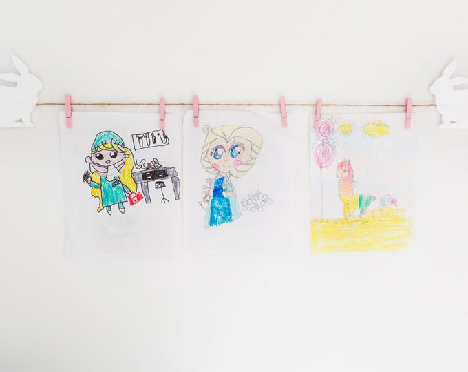Kids Art Display Sign | Children's Art Display Signs | Girls Decor | Toddler Room Decor Sign | Playroom Wall Art | Bunny Kids Decor
