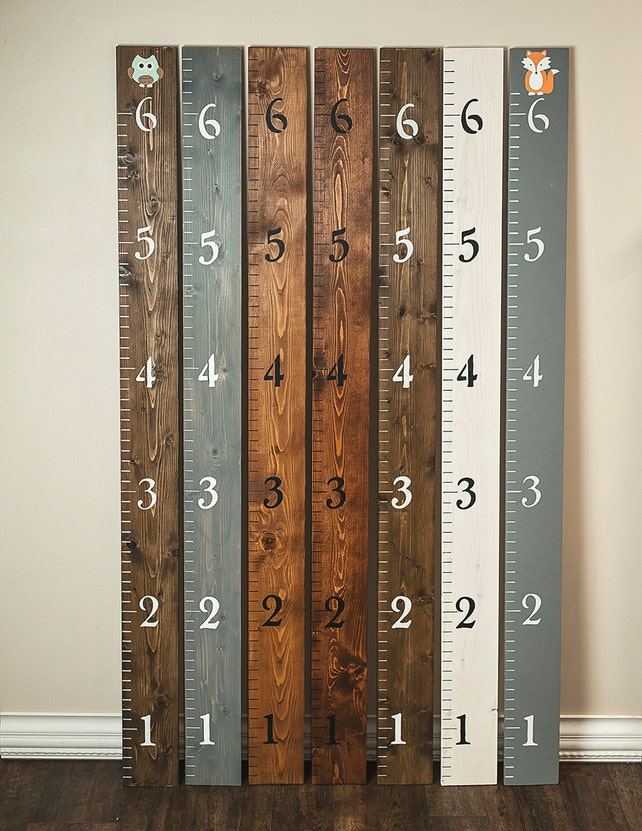 Personalized Growth Chart Wood Growth Chart Wall Ruler Etsy