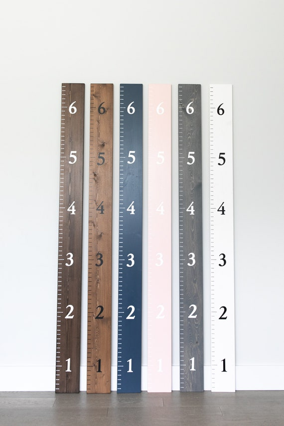 150cm Personalised Wall Ruler Growth Chart 50cm 3mm MDF Custom Painted White