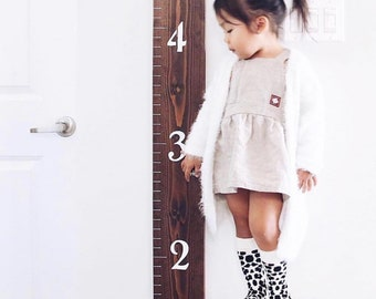 Customizable Growth Chart Ruler | Wooden Growth Chart | Wall Ruler | Family Growth Chart | Nursery Decor | Playroom Decor | Growth Ruler