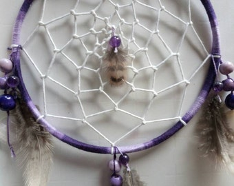 DreamCatcher handmade with Amethyst