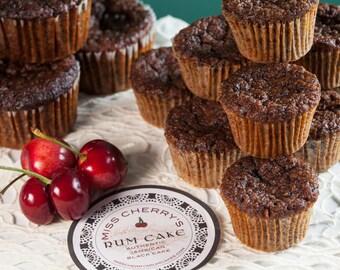 Jamaican Rum Cake Cupcakes, Mini (12 Count)