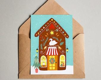 Christmas card Weihnachtskarte postcard post Card card fine holidays-Merry Christmas