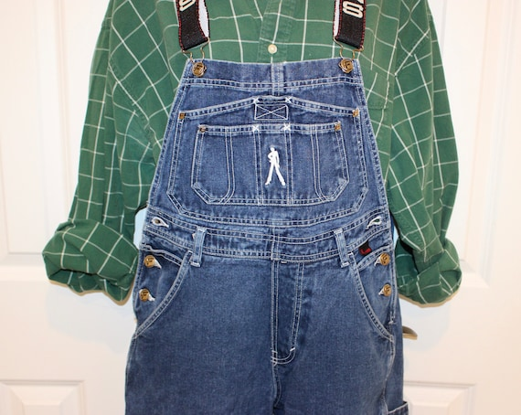 Vintage Overalls by FUBU  Women's Small  Darkwash