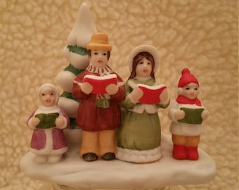 Vintage Lefton Colonial Village Kolenkos Family Carolers Figurines Christmas Caroling Hand Painted Singing 6887