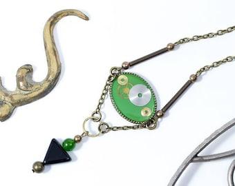 """Collar verde-mint """"Oldies"""" de maquinarias de relojes (VARIOS COLORES)"""