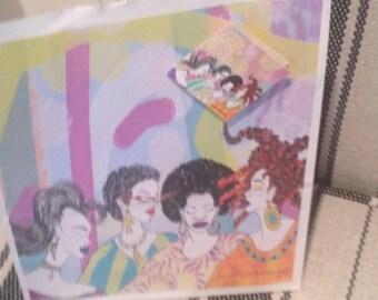 gift bag, Diva gift bag, gift bag for her, birthday gift bag, natural hair art