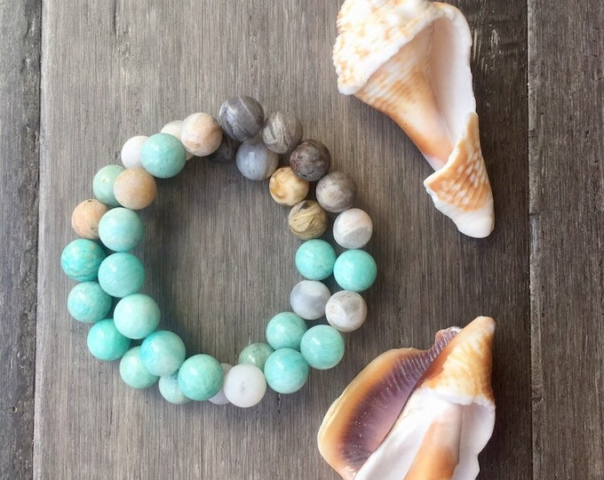 Featured listing image: Ocean Waves Mala Bracelet
