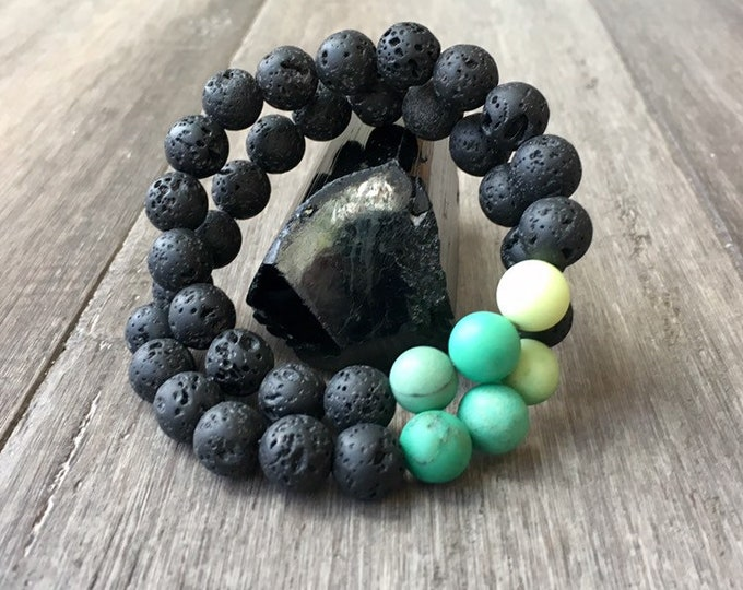 Featured listing image: Spiritual Grounding Mens Lava Bracelet