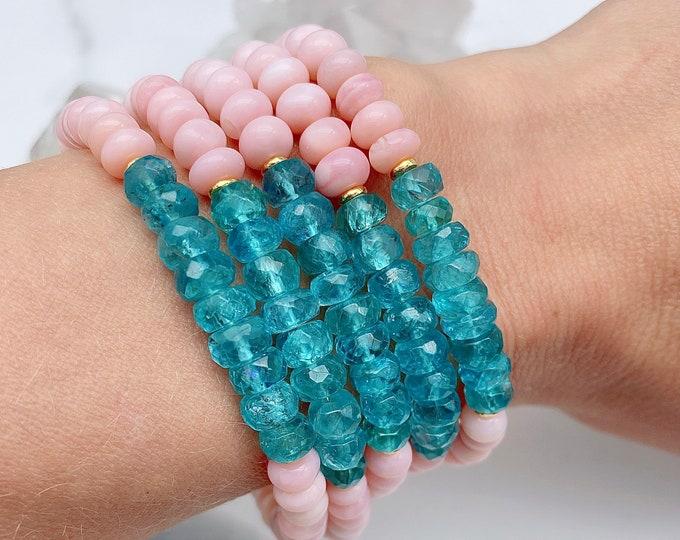 Featured listing image: Gaia Peace Apatite Pink Opal Mala Kette Bracelet Spiritual Light Energy Jewelry Sacred Heart Yoga Empath Protection Gift Self Mothers Day