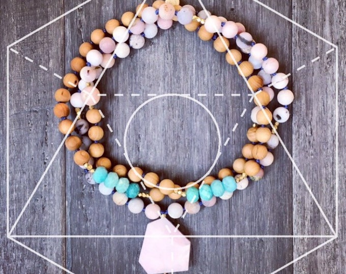 Featured listing image: Mala Necklace, Mala Necklace, Pendant Necklace, 108 Mala, Chakra Necklace, Necklace, Yoga Necklace, Gifts for Her