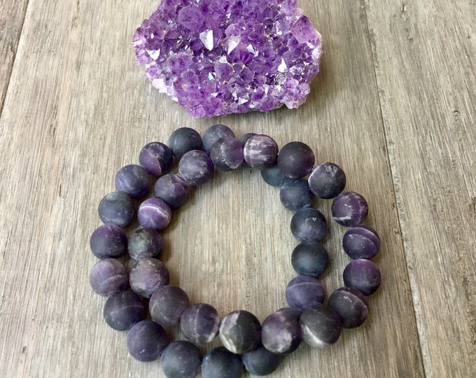 Featured listing image: CROWN CHAKRA Mala Bracelet, Seventh Chakra, Amethyst Bracelet, Yoga Jewerly, Yoga, Amethyst , Chakra Bracelet, Yoga, Bracelet
