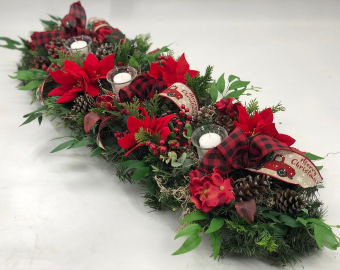 Christmas centerpiece, christmas garland, advent centerpiece