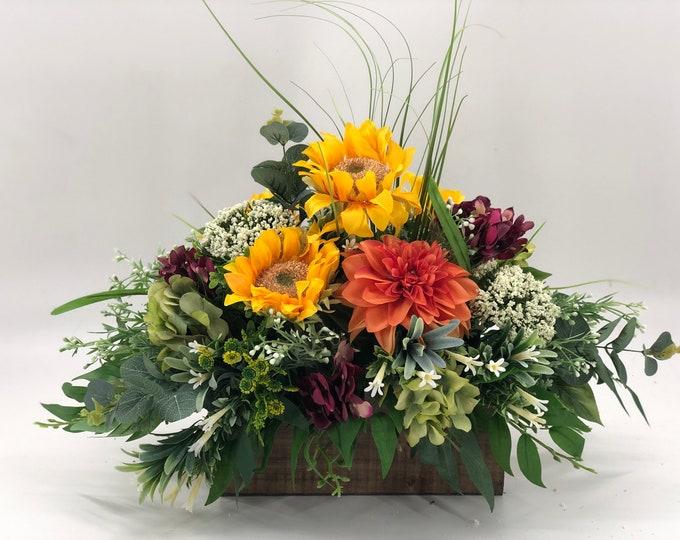 Fall arrangement, Artificial fall centerpiece, fall decor, thanksgiving arrangement, lasts forever