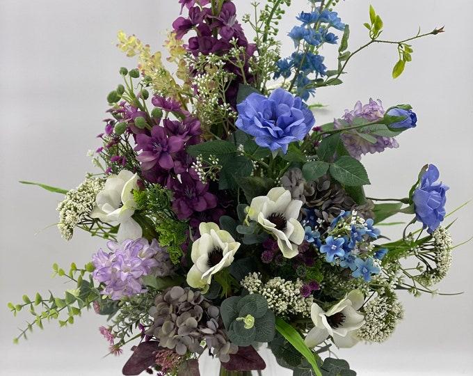 Wild flower bouquet, wild flower arrangement, spring arrangement, artificial flowers, nearly natural