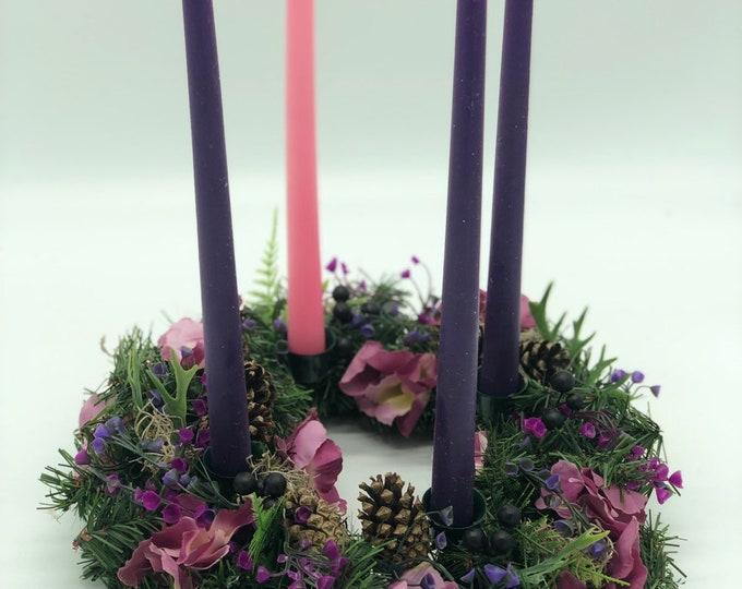 Advent wreath, Candles included! Christmas wreath,  Christmas decor