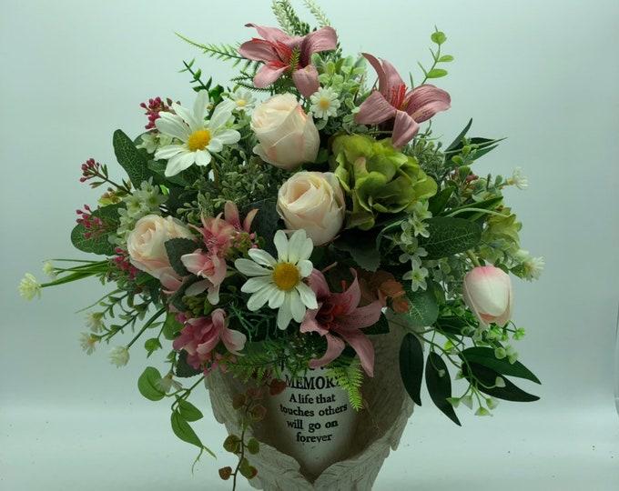 Memorial flowers, cemetery flowers