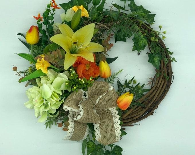 Artificial wreath, year round wreath
