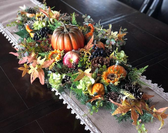 Fall arrangements, thanksgivings arrangement, pumpkin decor, fall centerpiece